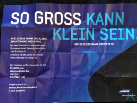 So Gross Kann Klein Sein.
