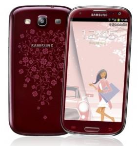Samsung Galaxy S III La Fleur - wariant czerwony