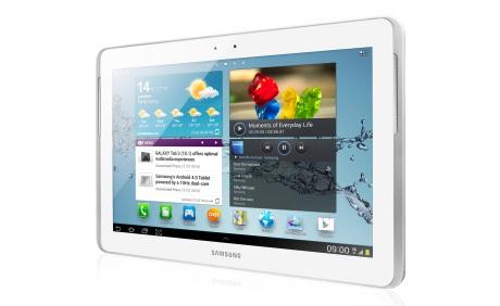 Samsung Galaxy Tab 2 10.1  w kolorze białym [źródło: Samsung]