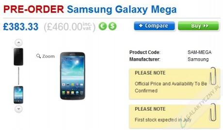 Samsung Galaxy Mega 6.3 - Pre-order w Clove [źródło: Clove]