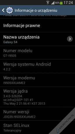 Samsung Galaxy S 4 - Informacje o urządzeniu [źródło: galaktyczny.pl]