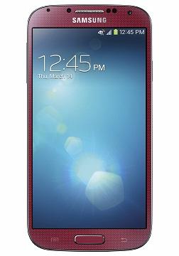 Samsung Galaxy S 4 w kolorze Red Aurora (przód) [źródło: blogs.att.net]