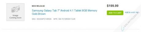 Samsung Galaxy Tab 3 7.0 za 199 dolarów [źródło: Adorama]