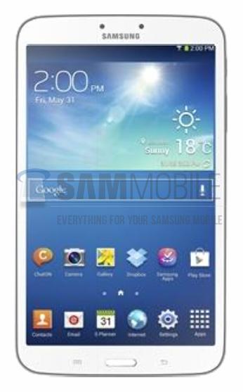 Samsung Galaxy Tab 3 8.0 [źródło: SamMobile]