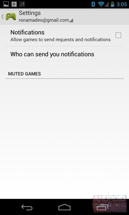 Google Play Games - Ustawienia [źródło: androidpolice.com]