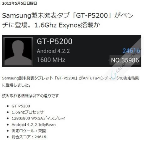 GT-P5200 - wynik w AnTuTu [źródło: rbmen.blogspot.jp]