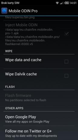 Mobile Odin: ekran główny [źródło: galaktyczny.pl]