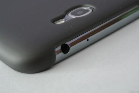 Belkin Shield Sheer Matte dla Galaxy Note II - wtyk mini jack [źródło: galaktyczny.pl]
