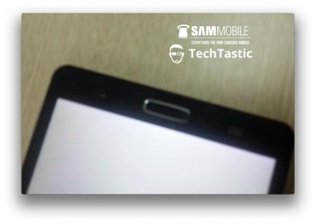 Prototyp Samsunga Galaxy Note III - przyciski pod ekranem[źródło: SamMobile]