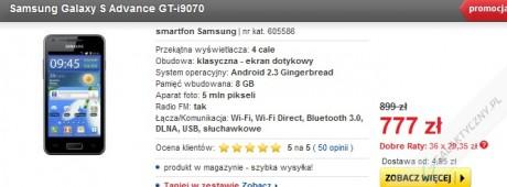 Samsung Galaxy S Advance - czarny [źródło: Euro]