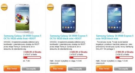 Samsung Galaxy S 4 z Exynos 5 Octa [źródło: Tions]