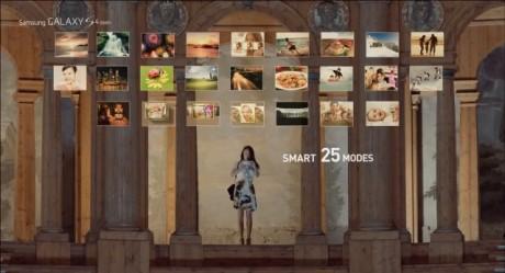 Samsung Galaxy S 4 zoom - 25 trybów Smart [źródło: Samsung]