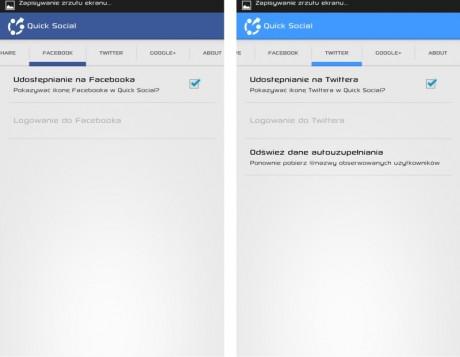 Quick Social - Facebook i Twitter [źródło: galaktyczny.pl]