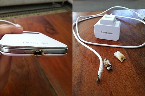 Samsung Galaxy S 4 po wybuchu [fot. AndroidSPIN]