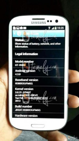 Galaxy S3 Android 4.3 Jelly Bean