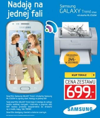 Samsung Galaxy Trend i drukarka ML-2165W [źródło: Euro]