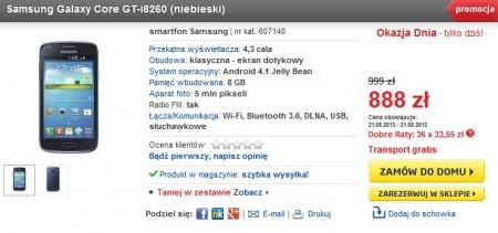 Samsung Galaxy Core w Euro [źródło: Euro]