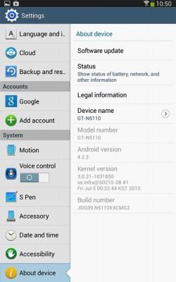 Android 4.2.2 dla Galaxy Note 8.0 3G [źródło: SammyHub]