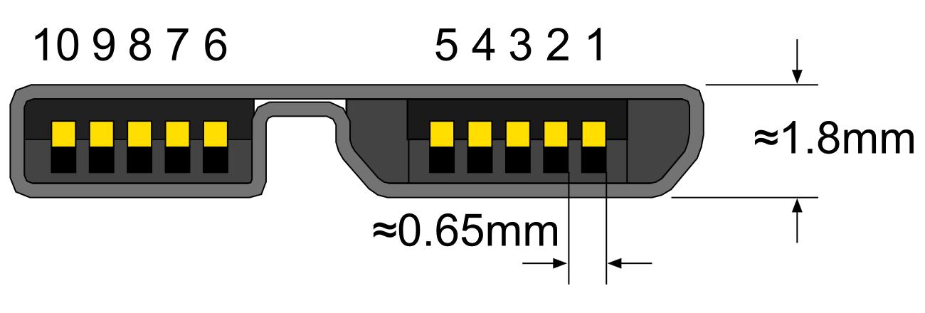 Struktura microUSB 3.0