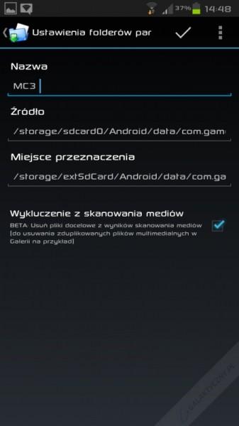 Przykład poprawnego wypełnienia formularza dodania nowej pary w aplikacji FolderMount [źródło: galaktyczny.pl]