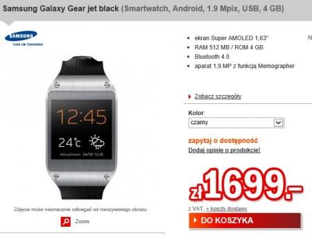 Samsung Galaxy Gear - przedsprzedaż [źródło: redcoon]