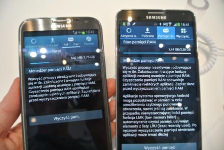 Galaxy Note 3 i Galaxy Note II - pamięć RAM[źródło: galaktyczny]