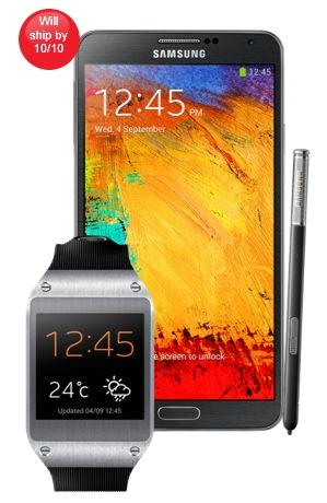 Samsung Galaxy Note 3 + Galaxy Gear [źródło: Verizon]