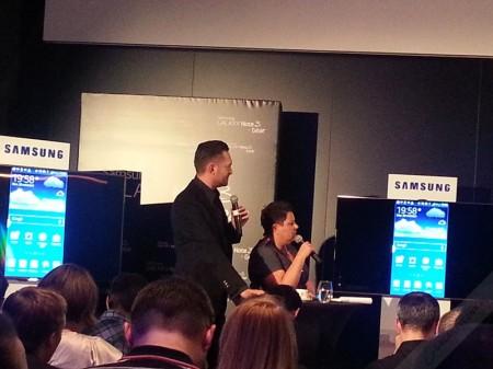 D. Wellman i M. Prokop na premierze Galaxy Note 3 i Galaxy Gear [źródło: galaktyczny.pl]