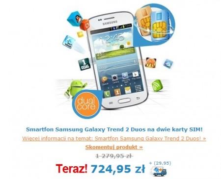 Samsung Galaxy Trend II Duos [źródło: ibood]