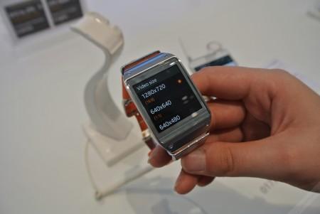Samsung Galaxy Gear - wielkość wideo [źródło: galaktyczny.pl]