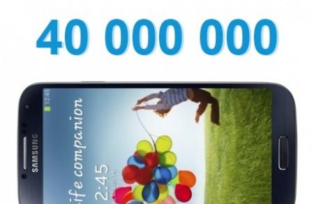 Samsung Galaxy S 4 - 40 mln [źródło: galaktyczny.pl]
