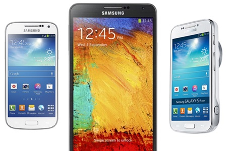 Galaxy S 4 mini, Galaxy Note 3 i Galaxy S 4 zoom [źródło: Samsung]