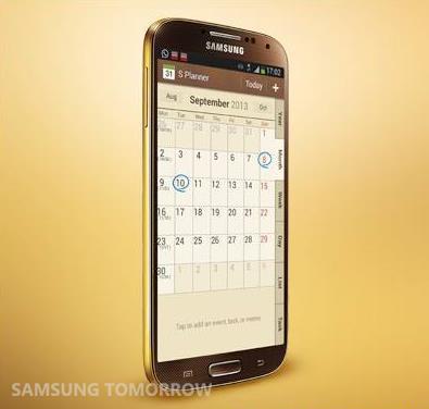 Samsung Galaxy S 4 Gold [źródło: Samsung]
