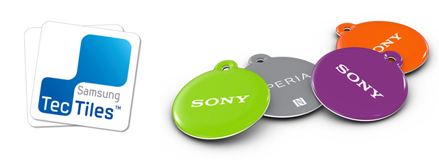 Samsung TecTiles i Sony SmartTag