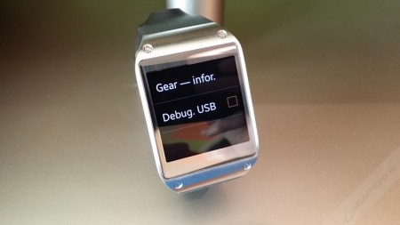 Samsung Galaxy Gear - Debug. USB [źródło: galaktyczny.pl]
