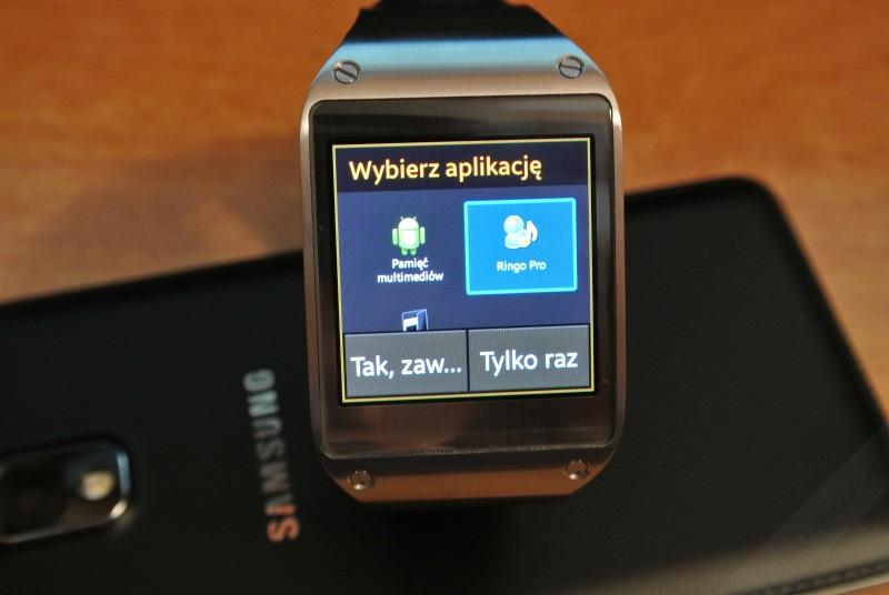 Galaxy Gear - Wybierz aplikację