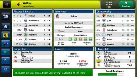 Football Manager Handheld 2014 [źródło: Google Play]