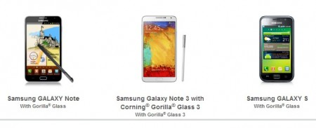 Galaxy Note 3 - Gorilla Glass 3 [źródło: Corning]