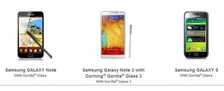 Galaxy Note 3 - Gorilla Glass 3 [źródło: Corning]