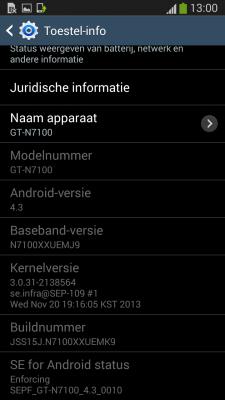 Galaxy Note II - N7100XXUEMK9 [źródło: SamMobile]
