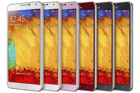 Galaxy Note 3 - kolory [źródło: Samsung]