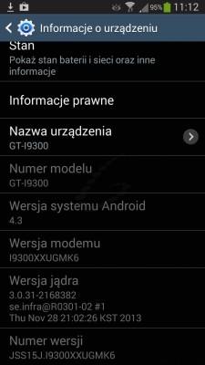 Android 4.3 Jelly Bean dla Galaxy S III [źródło: galaktyczny.pl]