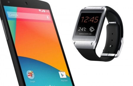 Galaxy Gear i Nexus 5 [źródło: producent]