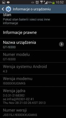 Android 4.3 Jelly Bean dla Galaxy S III w Play [źródło: galaktyczny.pl]