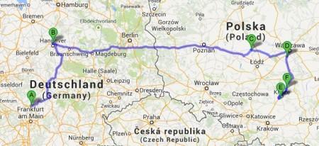 GamePad - transport [źródło: Mapy Google]