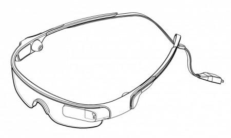 Samsung Galaxy Glass - patent [źródło: AndroidAuthority]