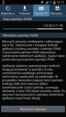 Android 4.4.2 KitKat dla Galaxy Note 3 - RAM [źródło: galaktyczny.pl