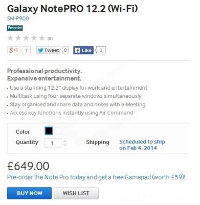 Samsung Galaxy NotePRO - przedsprzedaż [źródło: Samsung]