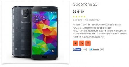 Goophone S5 [źródło: galaktyczny.pl]