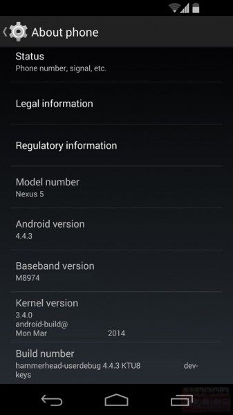 Android 4.4.3 KitKat / fot. Android Police